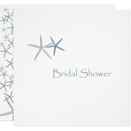 Starfish Champagne Bridal Shower Invitations
