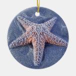 Starfish Christmas Oranament Round Ceramic Decoration