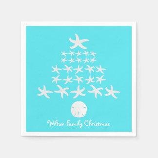 Starfish Christmas Tree Personalized Napkins Disposable Serviettes