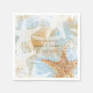 Starfish Coastal Beach Themed Event Napkin Disposable Serviettes