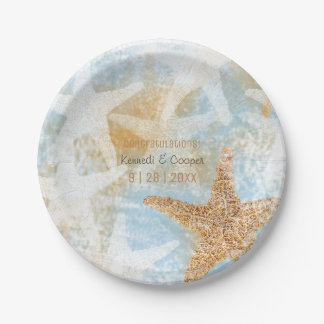 Starfish Coastal Beach Themed Event Paper Plate