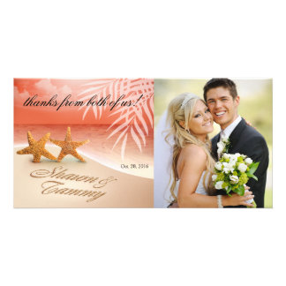 Starfish Couple ASK ME TO PUT NAMES IN SAND Customized Photo Card