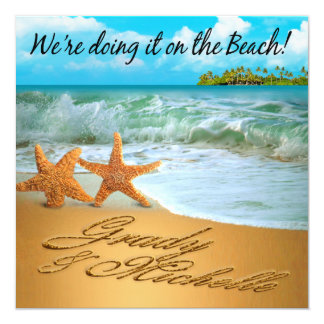 Starfish Couple ASK TO HAVE YOUR NAMES PUT IN SAND Card