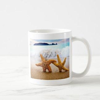 starfish couple basic white mug