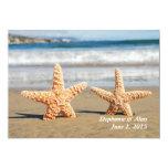 Starfish Couple Beach Wedding Invitation