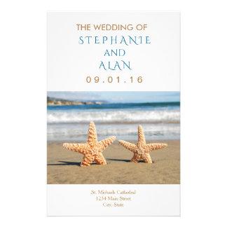 Starfish Couple Beach Wedding Programs 14 Cm X 21.5 Cm Flyer