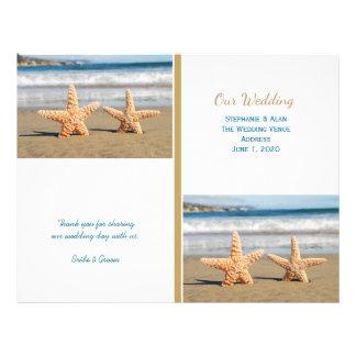 Starfish Couple Beach Wedding Programs 21.5 Cm X 28 Cm Flyer