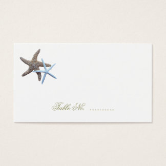 Starfish Couple Escort Seating Cards