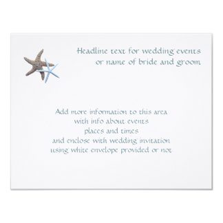 Starfish Couple Flat 4x5 Inch Enclosure Cards 11 Cm X 14 Cm Invitation Card