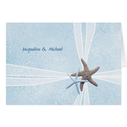 Wedding Gift Thank You Cards Uk : Starfish Couple, Gift Box Wedding Thank You Cards Zazzle