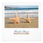 Starfish Couple On The Beach Bridal Shower Invites