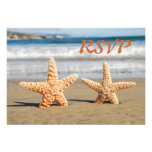 Starfish Couple on the Beach RSVP Card Personalized Invitations