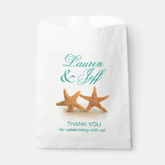 Starfish Couple on the Beach Wedding Favour Bags