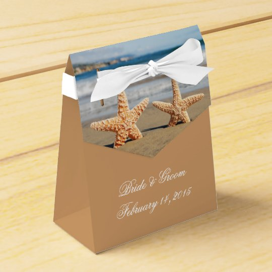 Starfish Couple on the Beach Wedding Favour Box