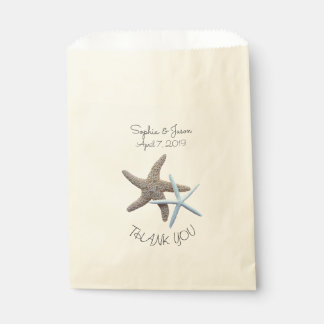 Starfish Couple Thank You Wedding Favor Favour Bags