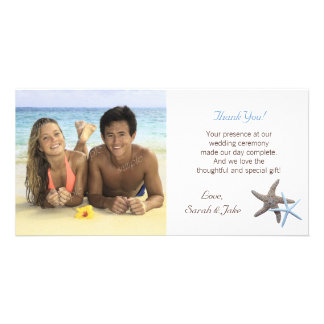 Starfish Couple Wedding Photo Thank You Cards Picture Card