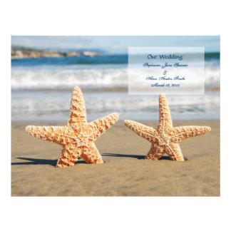 Starfish Couple Wedding Program Flyers