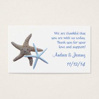 Starfish Couple Wedding Reception Favor Tags Business Card