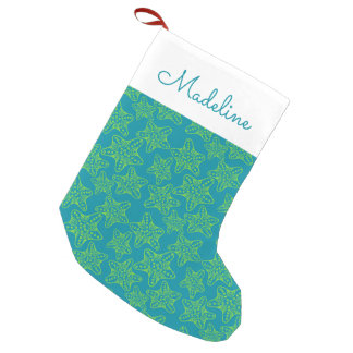Starfish Crowd Pattern | Add Your Name Small Christmas Stocking