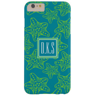 Starfish Crowd Pattern | Monogram Barely There iPhone 6 Plus Case