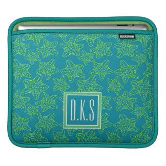 Starfish Crowd Pattern | Monogram iPad Sleeve