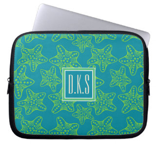 Starfish Crowd Pattern | Monogram Laptop Sleeve