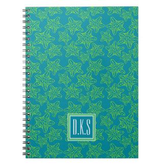 Starfish Crowd Pattern | Monogram Notebooks
