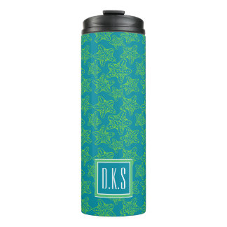Starfish Crowd Pattern | Monogram Thermal Tumbler