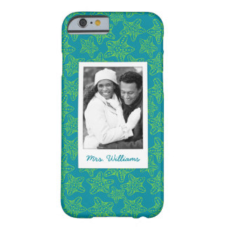 Starfish Crowd Pattern | Your Photo & Name Barely There iPhone 6 Case
