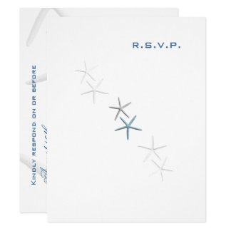 Starfish Dance Mailable Invitation Reply Card
