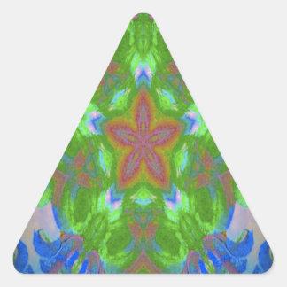 Starfish design triangle sticker
