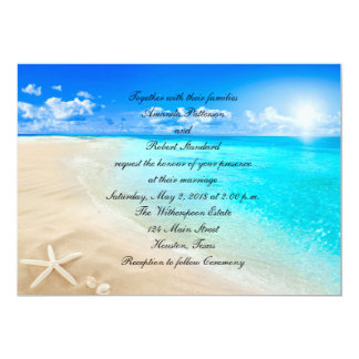 Starfish Destination Beach Wedding Invitation