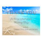 Starfish Destination Beach Wedding Thank You Note Postcard