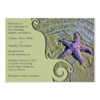 Starfish Destination or Beach Wedding Invitation
