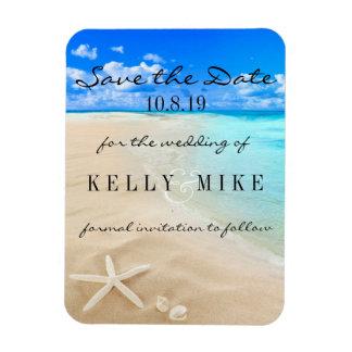 Starfish Destination Wedding Save the Date Magnet