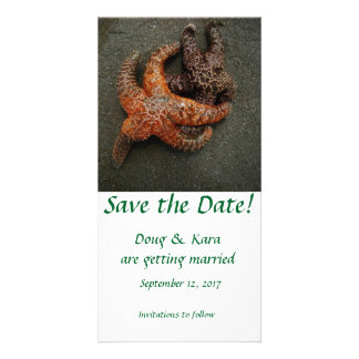 Starfish embracing! card