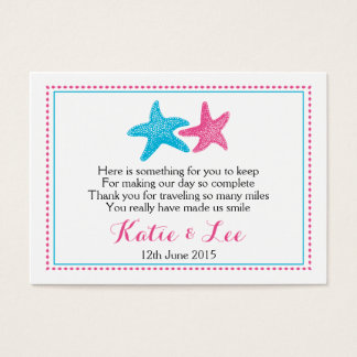 Starfish Favor Tag | Wedding Favor