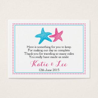 Starfish Favor Tag | Wedding Favor Business Card