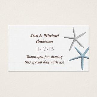 Starfish Favor Thank You Cards, Medium Size Business Card