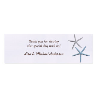 Starfish Favour Tag Thank You Cards Business Cards