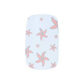 starfish fun minx nail art