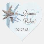 Starfish Gathering Heart Wedding Sticker
