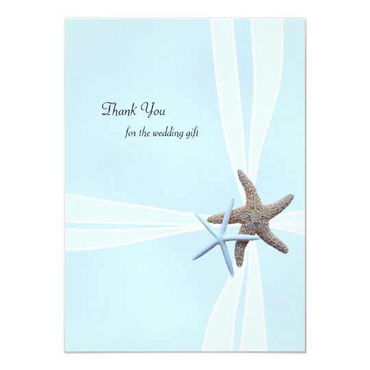 Starfish Gift Box Flat Wedding Thank You Notes
