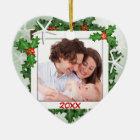 Starfish Heart Family Photo Christmas Ornament