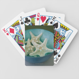 Starfish in bowl bicycle playing cards