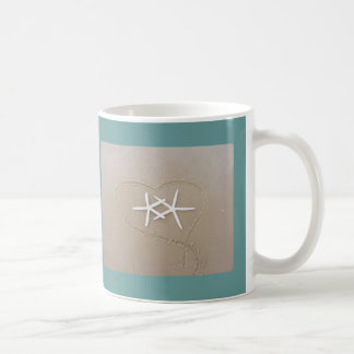 Starfish in Heart Coffee Mug
