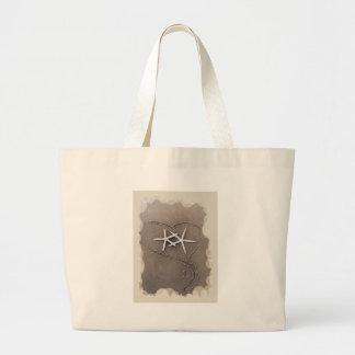 Starfish in Heart Tote Bag