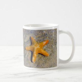 Starfish in the Sand Basic White Mug