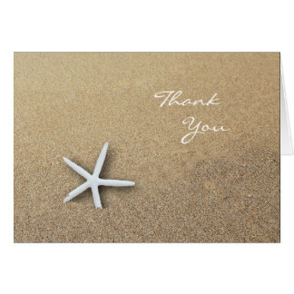 Starfish in the Sand, Blank Thank You Note Card