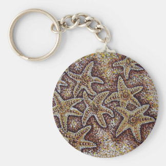 starfish in the sand key ring